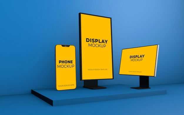 手机电脑和户外街边广告灯箱内容显示样机9724788图片素材