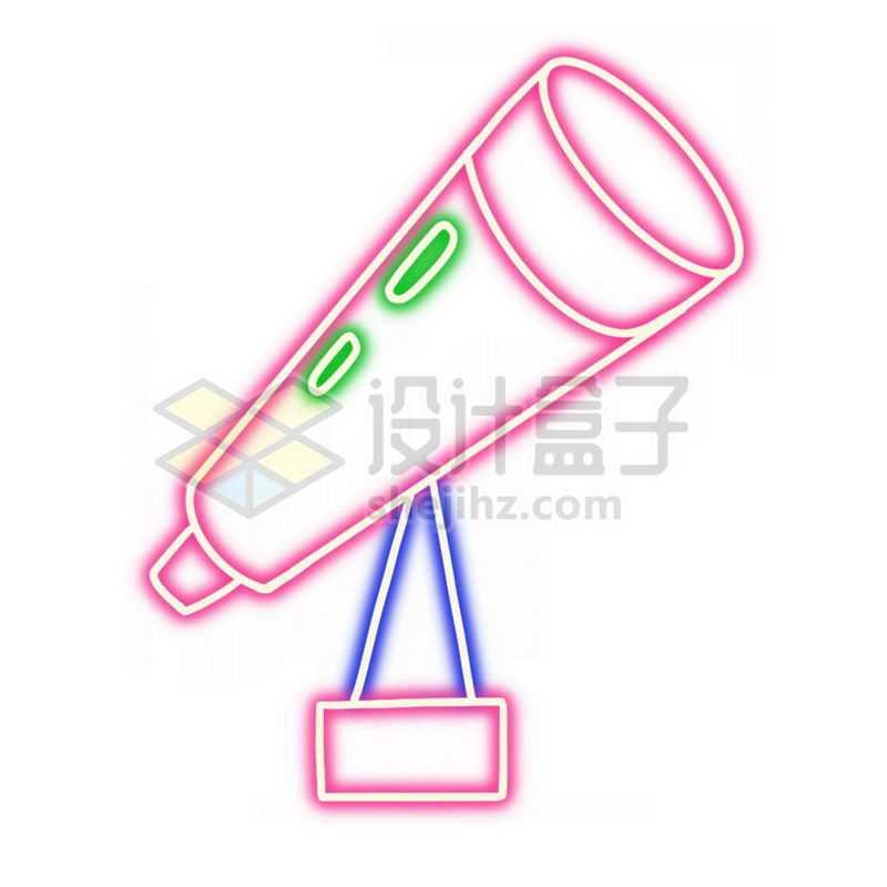 霓虹灯风格发光线条天文望远镜1719840免抠图片素材