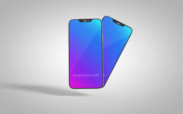 两款iphone12手机屏幕显示样机9614745图片素材 样机-第1张