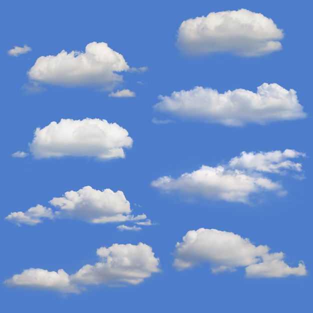 8款真实的云朵白云积云9955510免抠图片素材