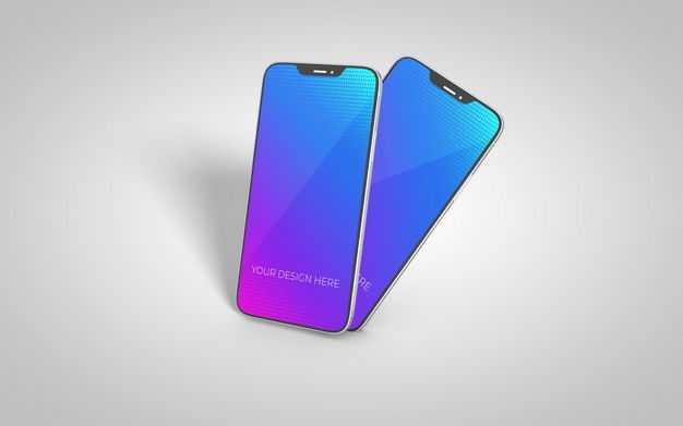 两款iphone12手机屏幕显示样机2828836图片素材