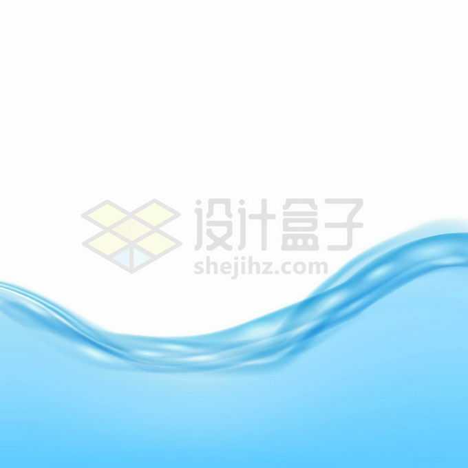 柔顺的蓝色水面效果4193999矢量图片免抠素材