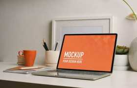 苹果MacBook Pro笔记本电脑屏幕显示样机2374594图片素材