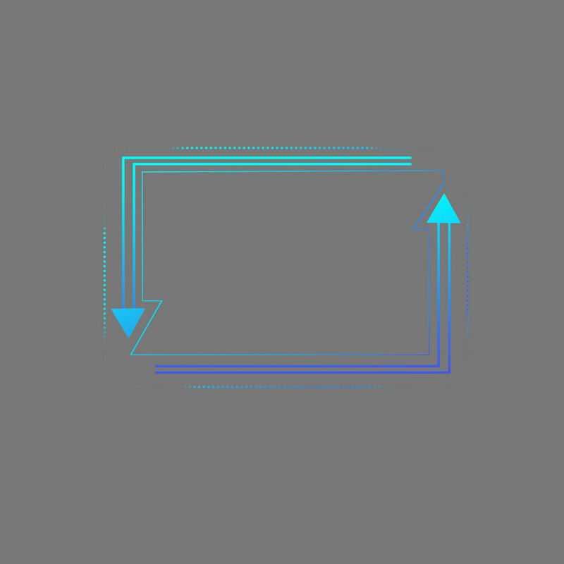 科技风格蓝色紫色箭头组成的线条边框7037255免抠图片素材