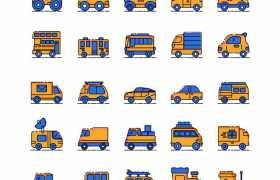 35款卡通飞机汽车等交通工具图标8193553矢量图片免抠素材免费下载