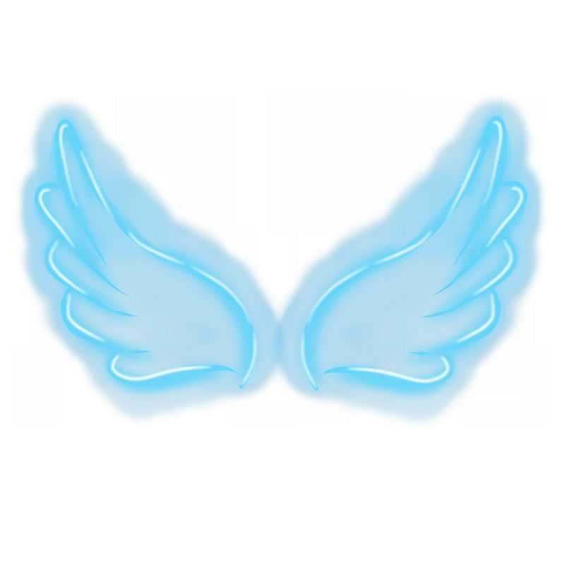 蓝色发光线条翅膀1998912免抠图片素材