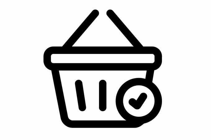 对号超市购物篮图标2601545矢量图片免抠素材免费下载