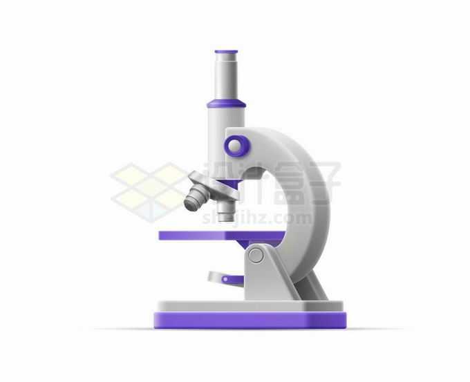 白色和紫色风格光学显微镜实验室用品2673969矢量图片免抠素材免费下载