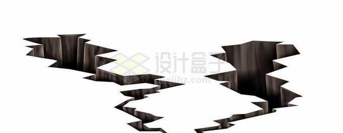 裂开的地面地震产生的地面裂缝效果7359718矢量图片免抠素材