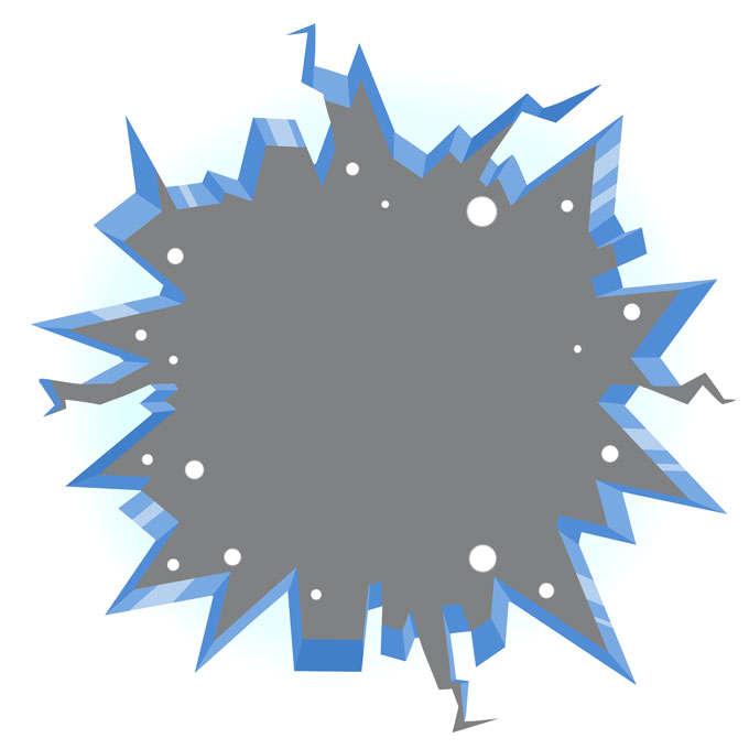 破碎的立体冰面冰层冰块效果4414345免抠图片素材