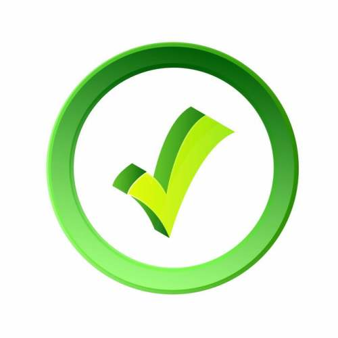 圆形绿色边框的3D立体风格对号4916094矢量图片免抠素材免费下载