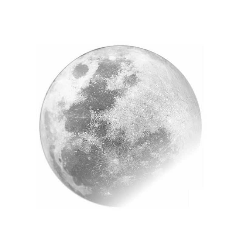 高清半透明的灰色月球8853521免抠图片素材