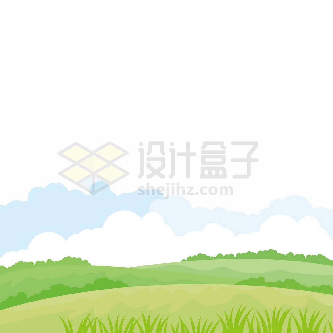 卡通草原草地风景4559517矢量图片免抠素材