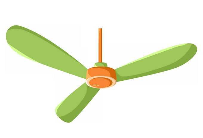 一款绿色的吊扇电风扇1467743png免抠图片素材