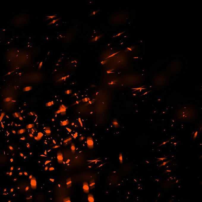 燃烧火焰灰烬中飞舞的火星子火花效果9338932免抠图片素材