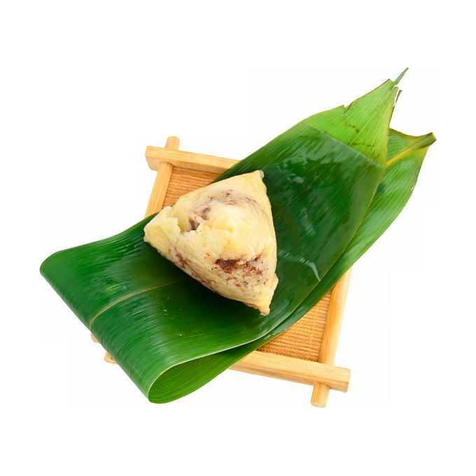 粽叶上打开的红豆粽子传统端午节美味美食3446501png免抠图片素材