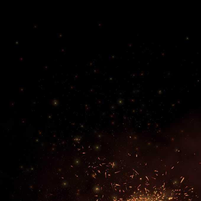 燃烧火焰灰烬中飞舞的火星子火花效果4356805免抠图片素材