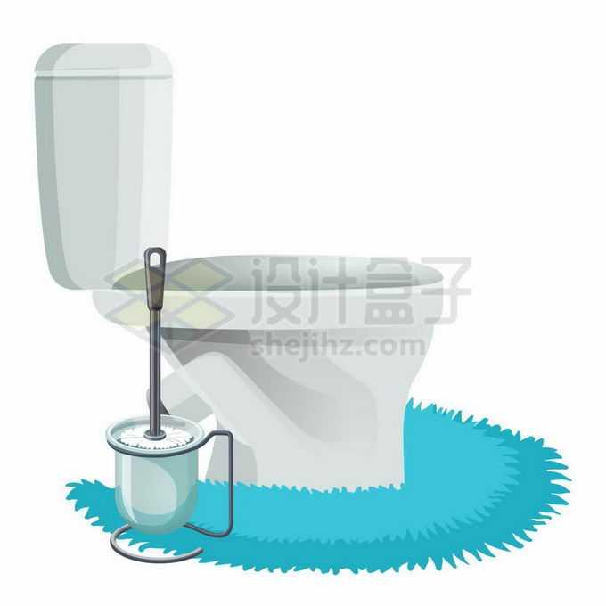 卡通抽水马桶和皮橛子卫生间用品1535998矢量图片免抠素材