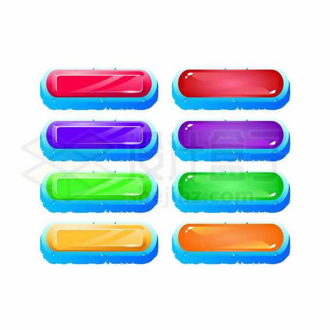 9款彩色水晶按钮钻石按钮网页按钮9262338矢量图片免抠素材免费下载