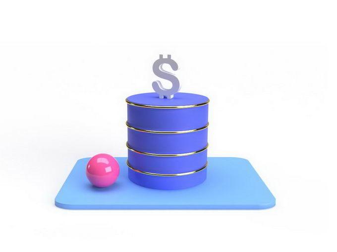 3D立体风格石油桶和美元9130477免抠图片素材 金融理财-第1张