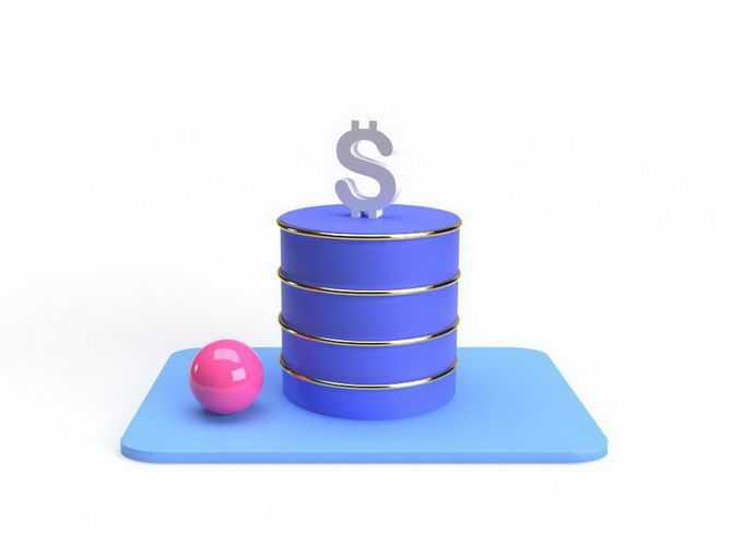 3D立体风格石油桶和美元9130477免抠图片素材