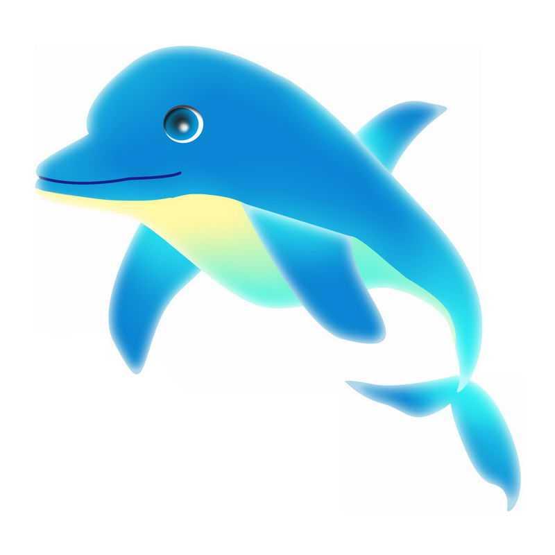 蓝色的卡通海豚6521914免抠图片素材
