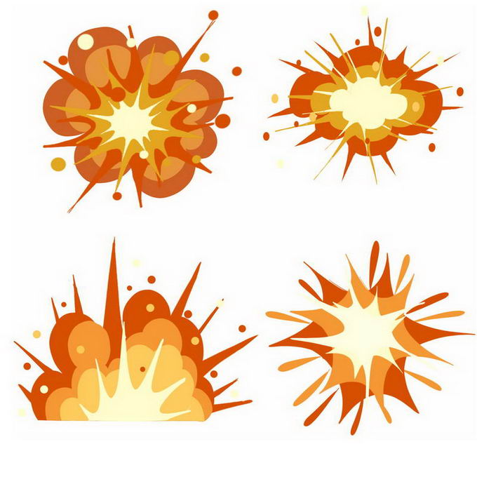 4款卡通爆炸效果8309898免抠图片素材 效果元素-第1张
