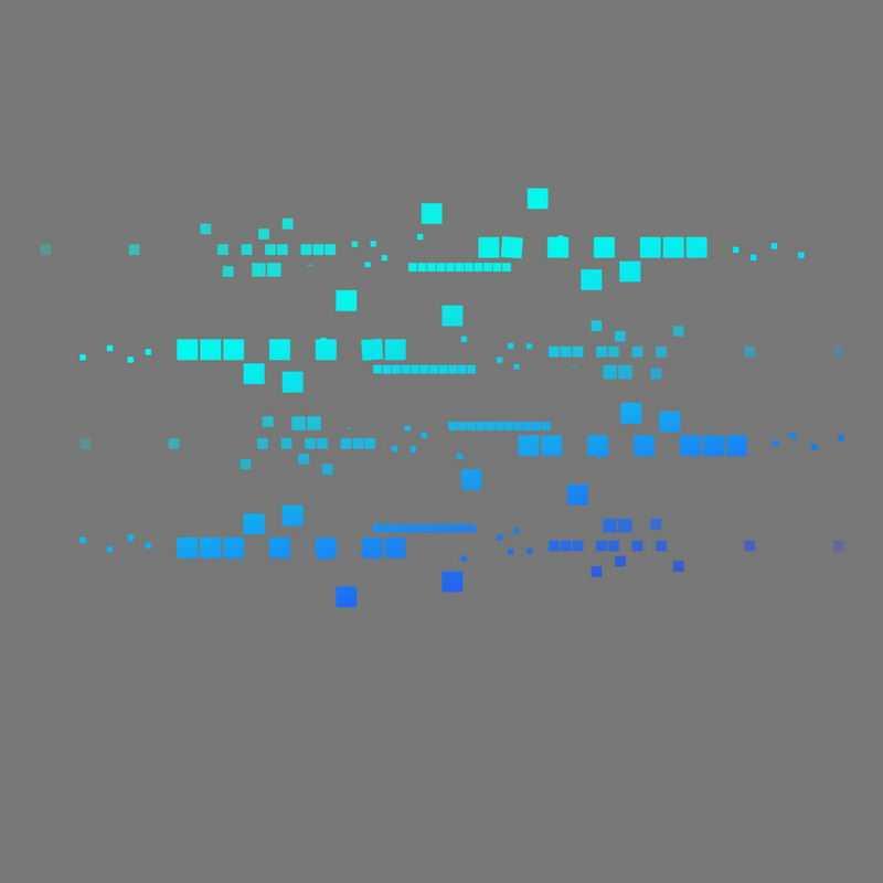 蓝色渐变色风格科技感方块组成的装饰图案2312254免抠图片素材