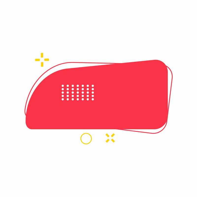 红色几何形状打折促销标签框7268200矢量图片免抠素材