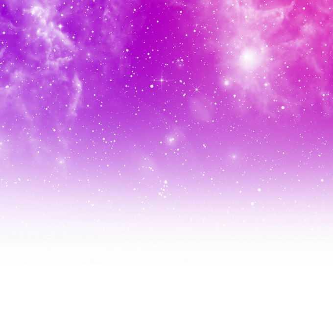 绚丽的紫色天空中繁星点点的星云星空装饰效果6002530矢量图片免抠素材