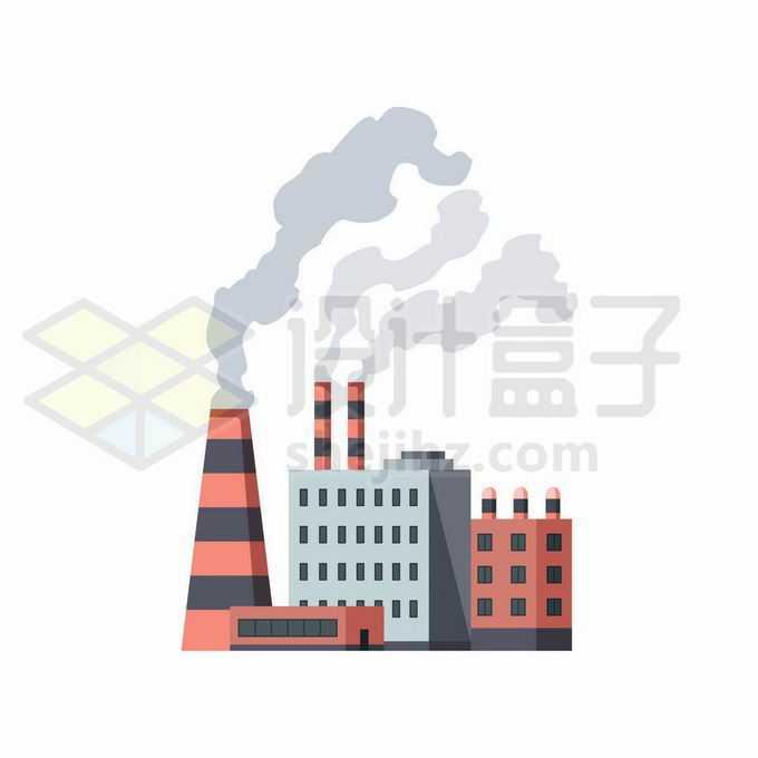 扁平化风格冒烟的烟囱和工厂厂房1833113矢量图片免抠素材免费下载