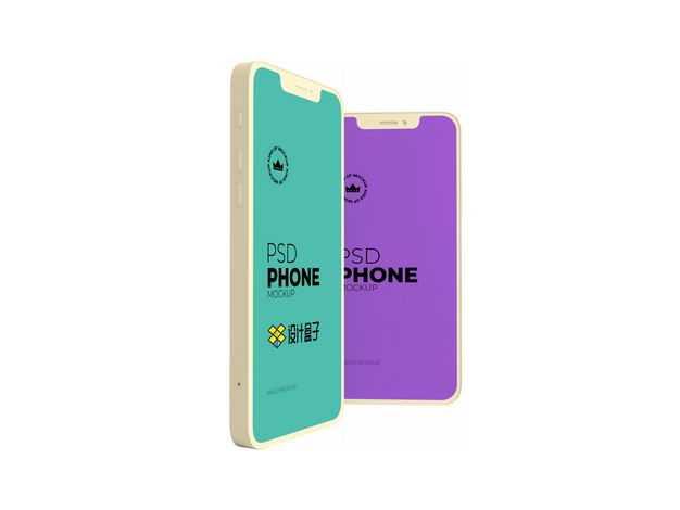 两个iphone手机屏幕显示样机1518610图片素材
