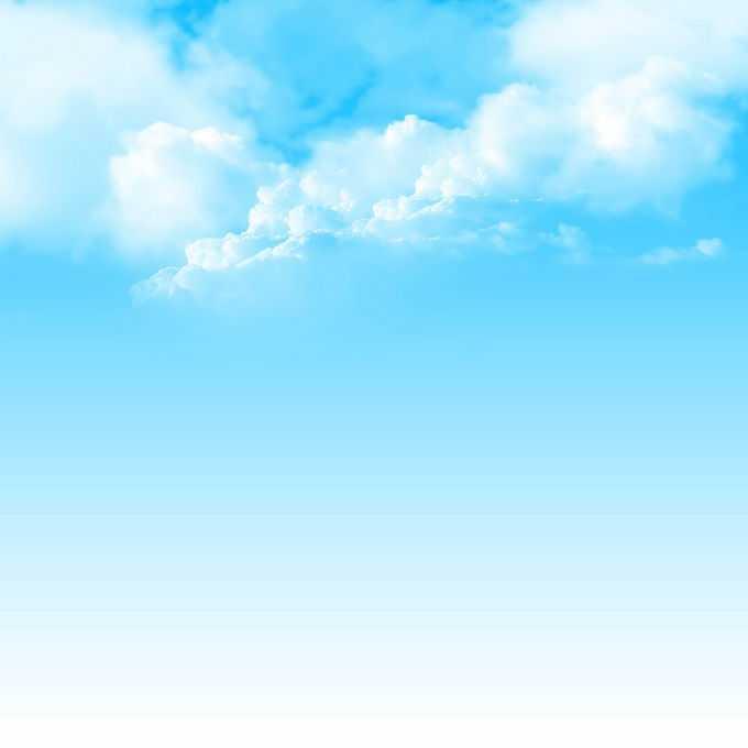 逼真的蓝天白云蔚蓝天空装饰效果8815408免抠图片素材