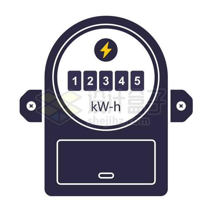 扁平化风格的火表电能表电表仪表盘4678736矢量图片免抠素材