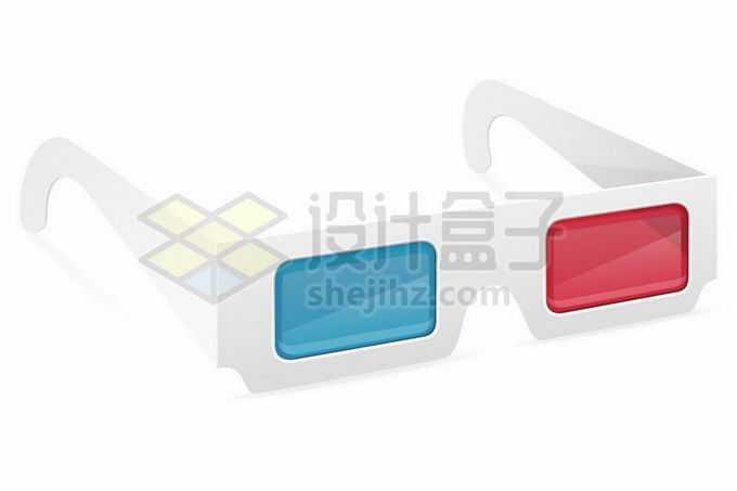 简约的红蓝眼镜3D立体眼镜电影院观影眼镜8553625矢量图片免抠素材免费下载