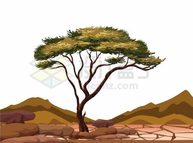 干旱天气下地面龟裂旱灾自然灾害4653399矢量图片免抠素材