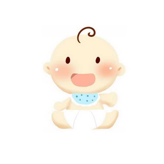 包着尿不湿的卡通宝宝9815984免抠图片素材