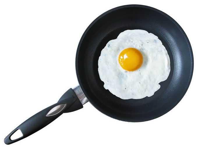 俯视视角平底锅煎锅中的煎蛋美味早餐5469834png免抠图片素材