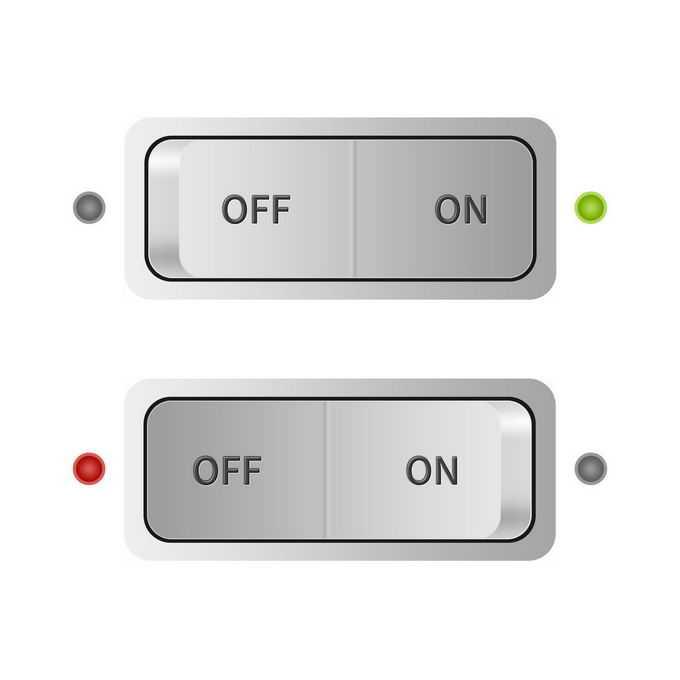 2种状态的按式开关按钮5233826免抠图片素材免费下载