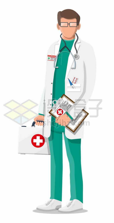 拎着医药箱的卡通医生1552689矢量图片免抠素材免费下载