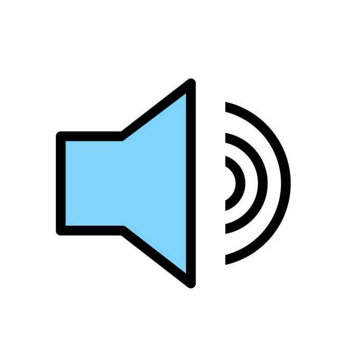 蓝色的声音图标8221189矢量图片免抠素材免费下载
