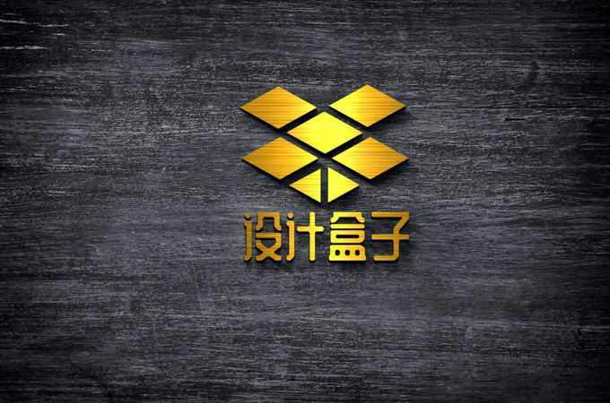 金色金属拉丝风格的logo文字显示样机5429799图片素材