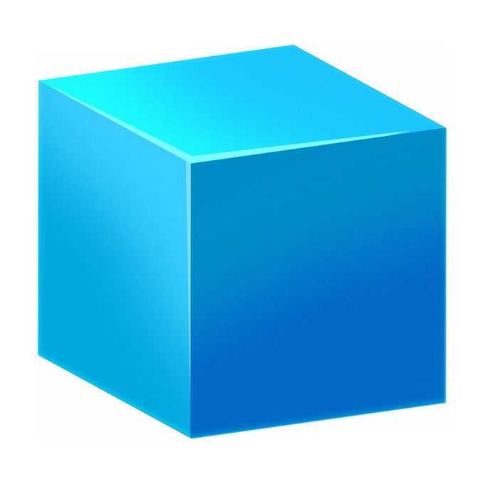 3D立体风格蓝色方块立方体9702492PSD免抠图片素材