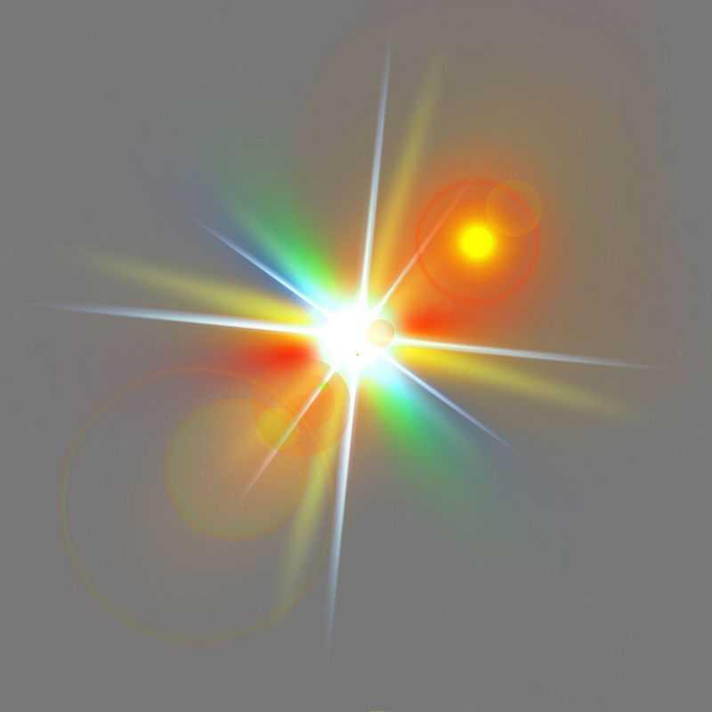 彩色光线阳光绚丽发光光照光晕效果4984574免抠图片素材