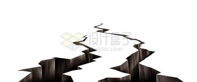 裂开的地面地震产生的地面裂纹效果3591643矢量图片免抠素材
