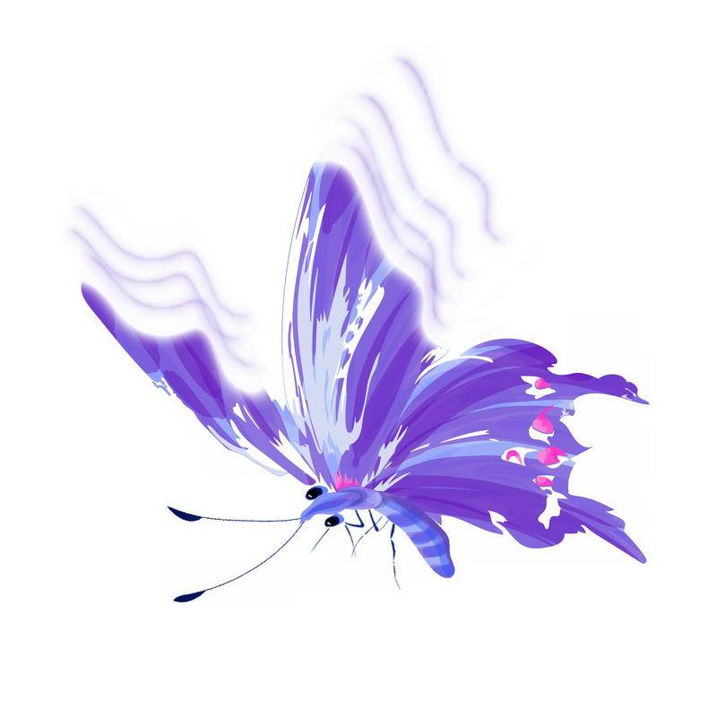 绚丽的紫色蝴蝶手绘插画2754911免抠图片素材 生物自然-第1张