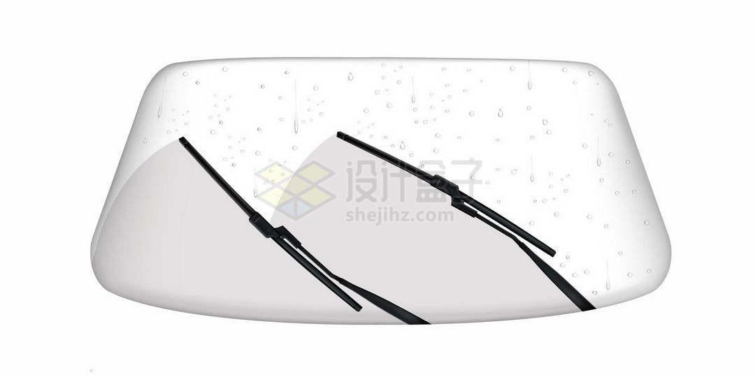 汽车挡风玻璃前窗和雨刮器9773910矢量图片免抠素材
