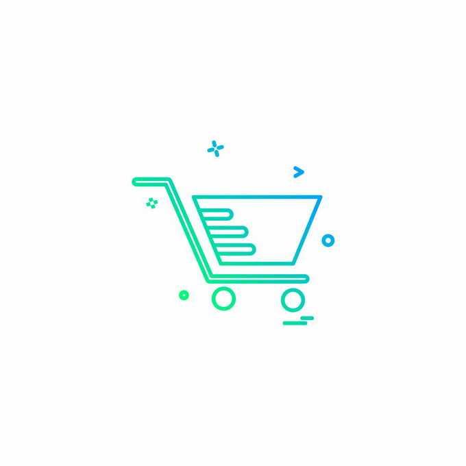 线性渐变风格超市购物车线条图标1732274矢量图片免抠素材免费下载