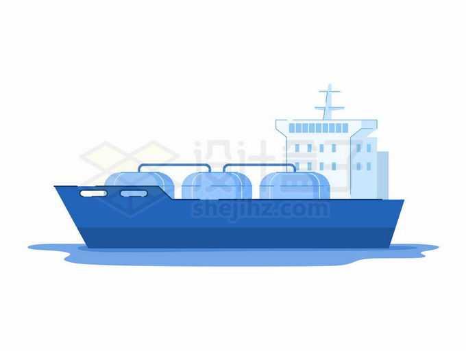 蓝色的卡通液化天然气船油气工业插画4034254矢量图片免抠素材免费下载