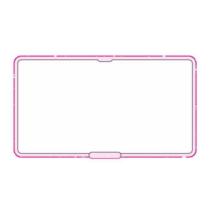 粉色线条圆角边框文本框信息框4515020免抠图片素材